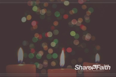Christmas Eve Candlelight Service Ministry Worship Video Background