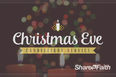 Christmas Eve Candlelight Service Ministry Title Motion Video