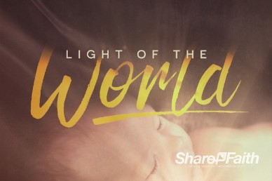 Light of the World Christmas Title Video Loop