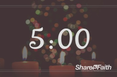 Christmas Eve Candlelight Service Ministry Five Minute Countdown Timer