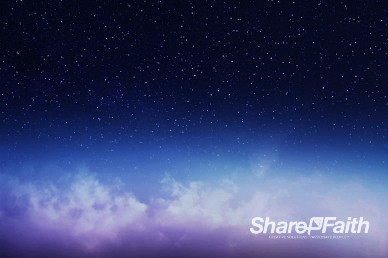 Starry Night Sky Church Worship Video Background