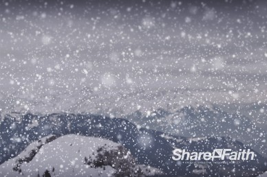 Winter Snowy Mountains Worship Video Loop