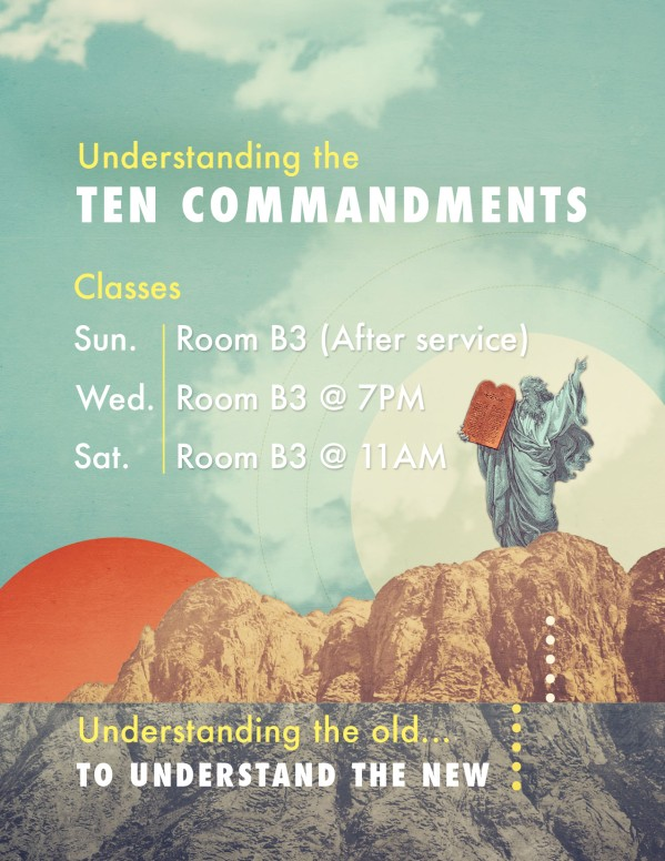 Understanding the Ten Commandments Ministry Flyer