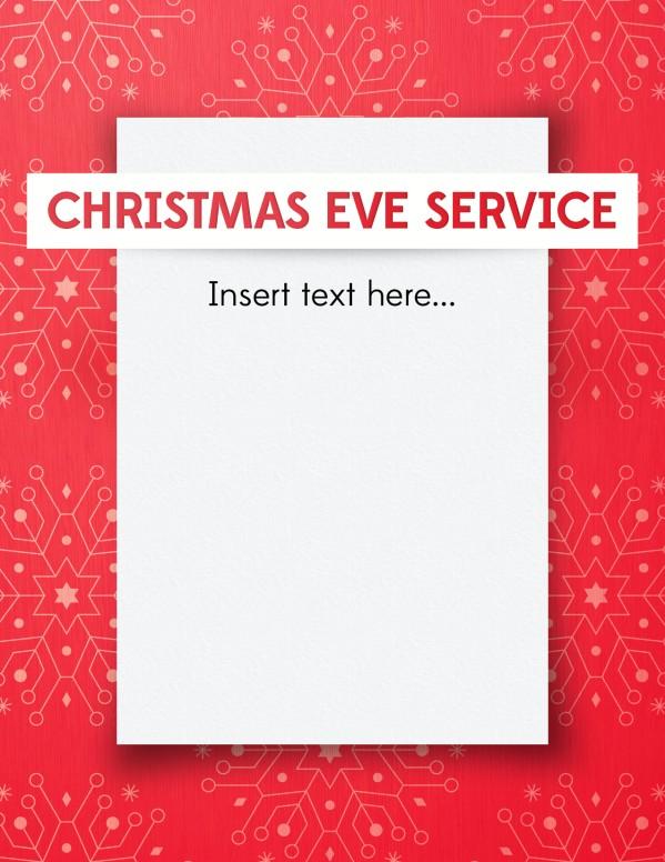 Snowflake Christmas Invitation Ministry Flyer