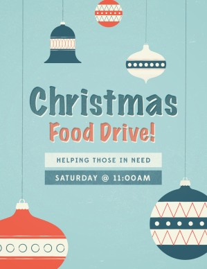 christmas food drive ministry flyer template flyer templates