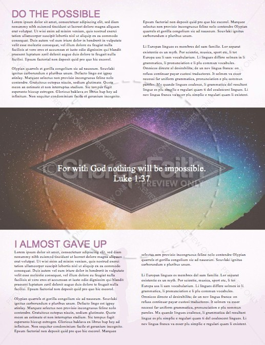 Impossible Galactic Creation Ministry Newsletter | page 2