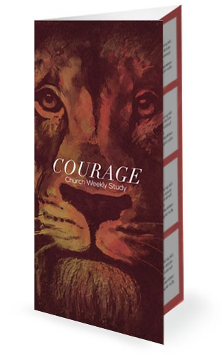 Be Strong and Courageous Church Trifold Bulletin