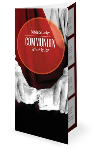Church Communion Church Trifold Bulletin