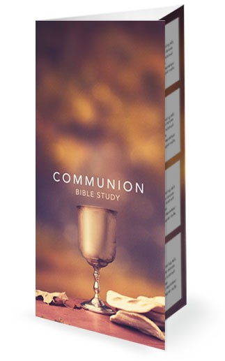 Communion Sunday Religious Church Trifold Bulletin
