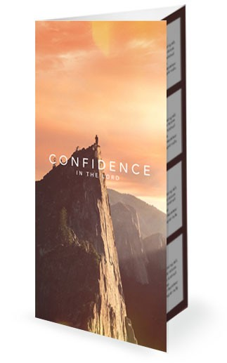 Confident Christian Church Trifold Bulletin