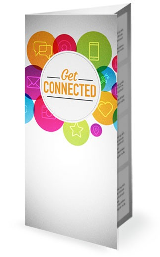 Get Connected Find Us Online Ministry Trifold Bulletin