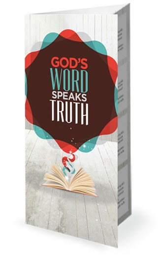 Gods Word Speaks Truth Bible Church Trifold Bulletin