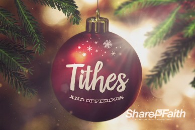 Joy to the World Tithes and Offering Video
