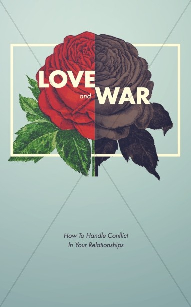 Love and War Christian Marriage Church Bulletin