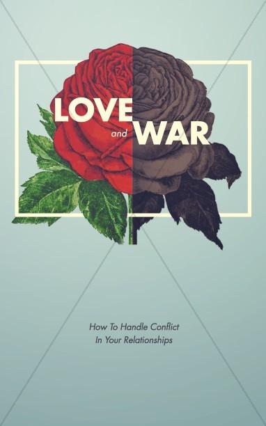 Love and War Christian Marriage Church Bulletin