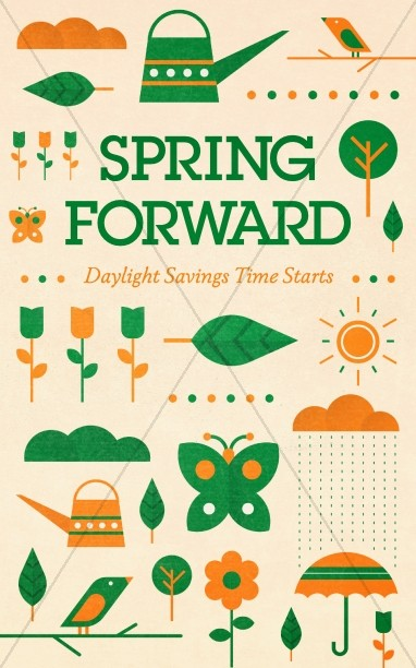 Spring Forward Daylight Saving Church Bulletin