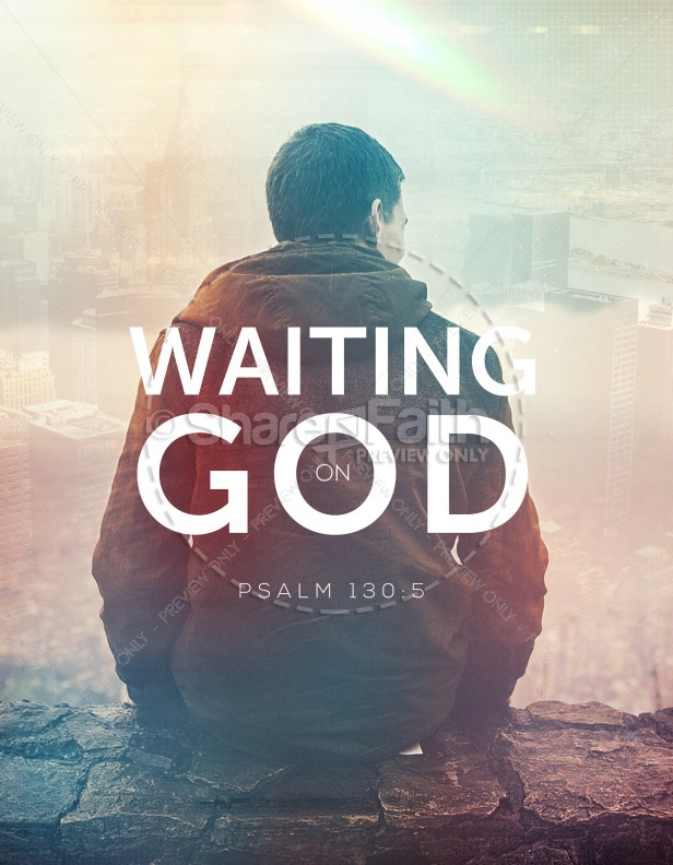 Waiting on God Church Flyer