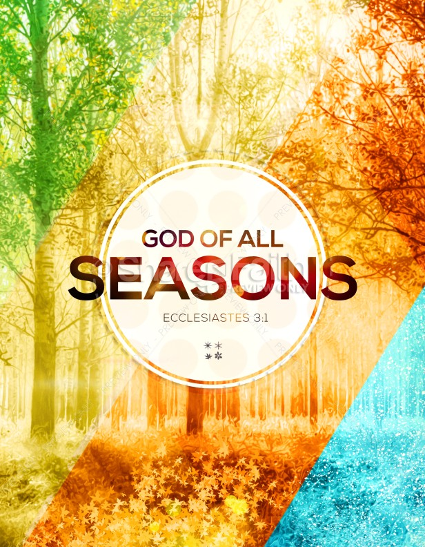 God Of All Seasons Church Flyer Template Flyer Templates