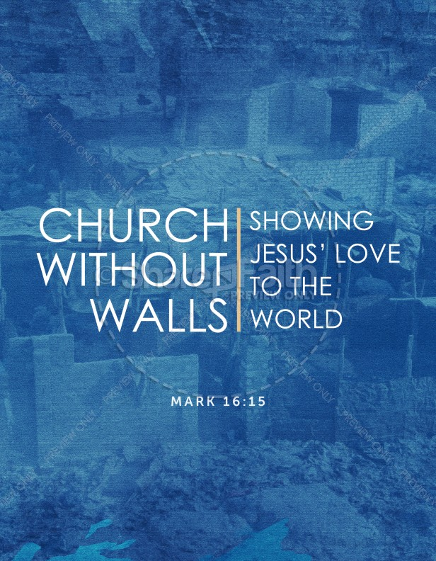 church without walls church flyer