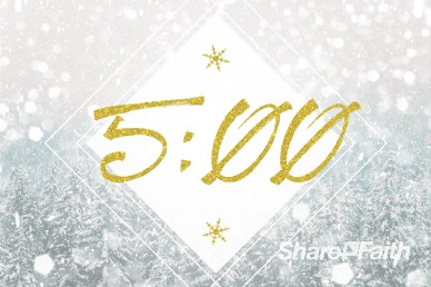Winter Communion Countdown Timer Video