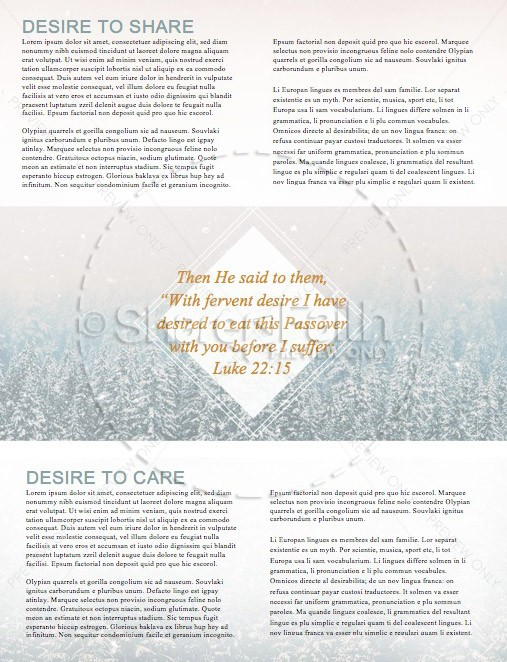 Winter Communion Sunday Church Newsletter
