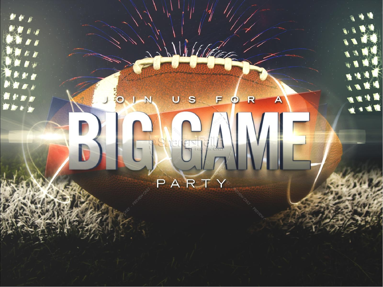 Big Game Party Church PowerPoint