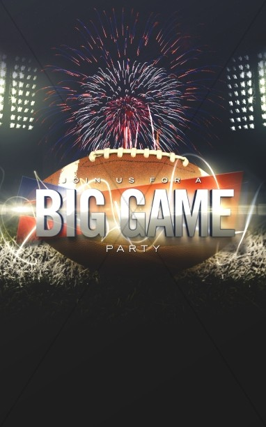 Big Game Party Church Bulletin Cover