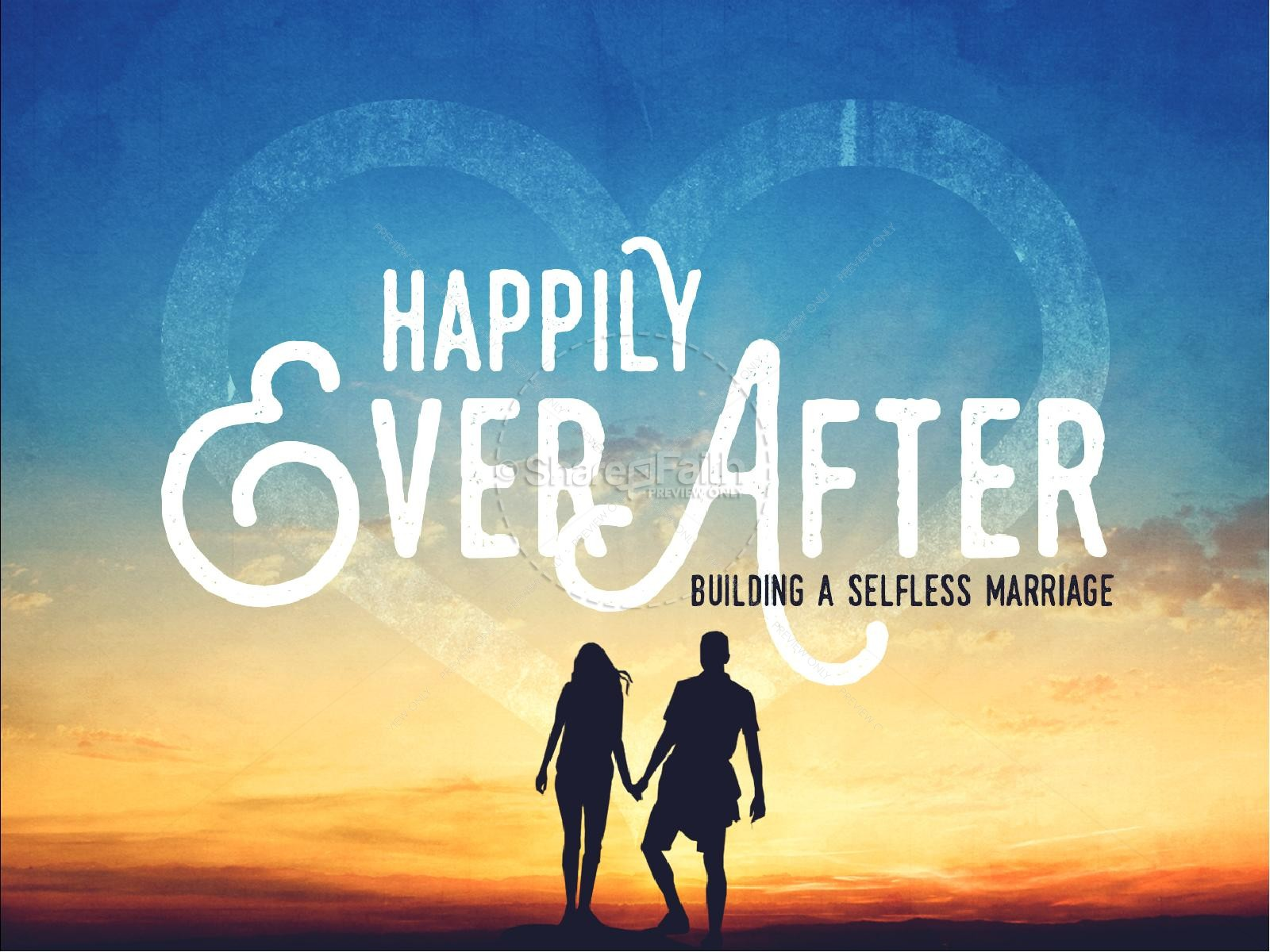 Happily Ever After Marriage Church Sermon PowerPoint | slide 1