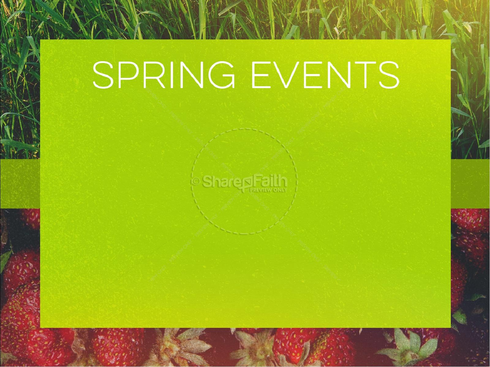 New Life Spring Strawberry Sermon PowerPoint