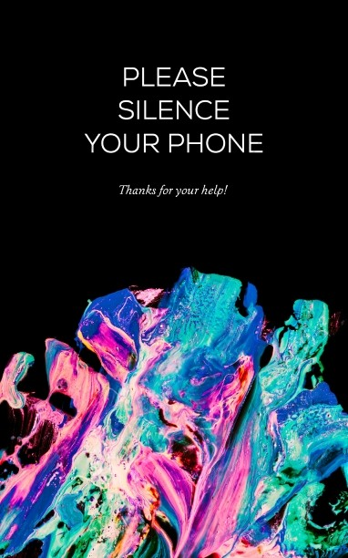 Please Silence Your Phone Color Splash Church Bulletin