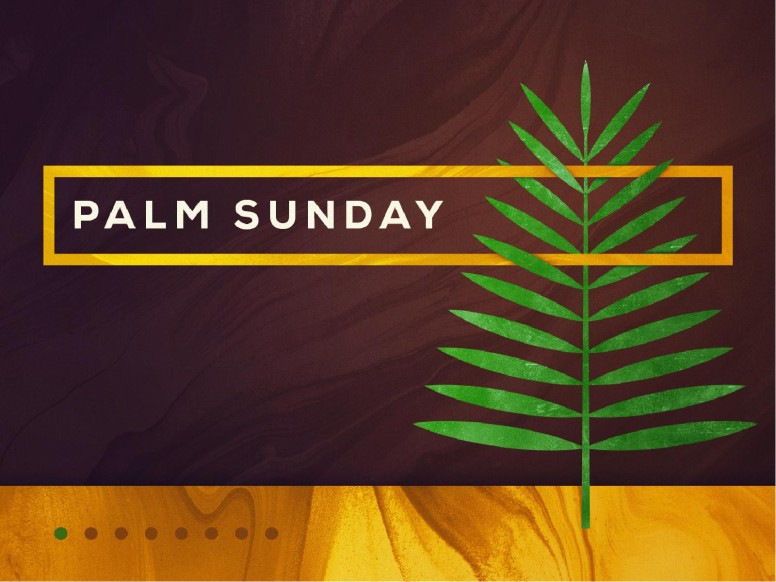 Palm Sunday Modern Church PowerPoint