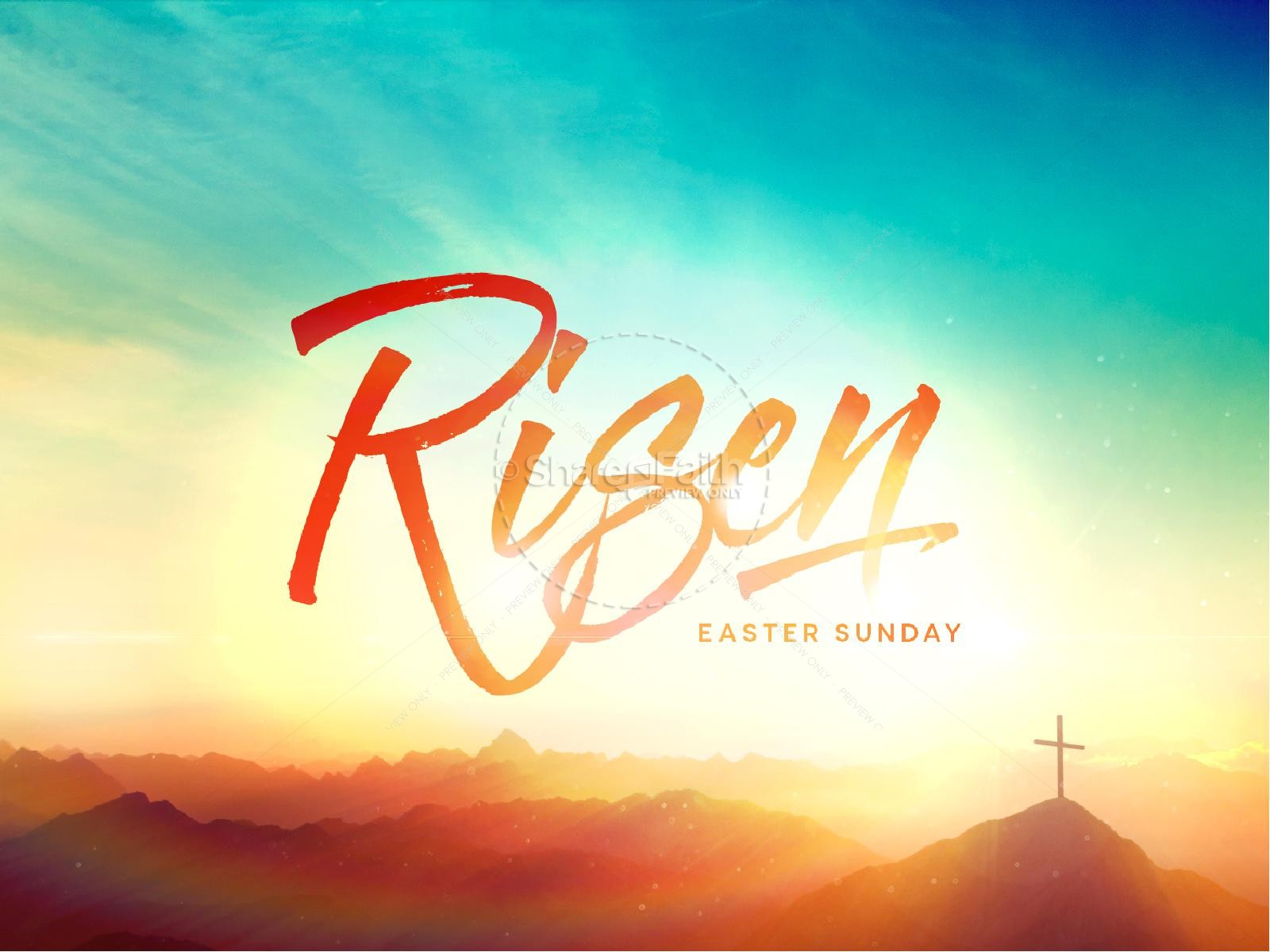Risen Easter Sunday Church PowerPoint