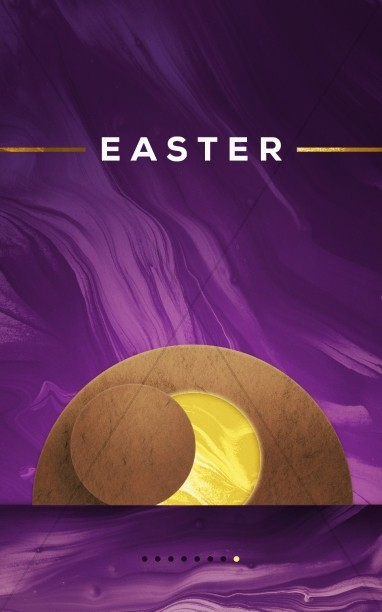 Easter Resurrection Sunday Modern Church Bulletin