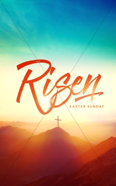 Risen Easter Sunday Church Bulletin