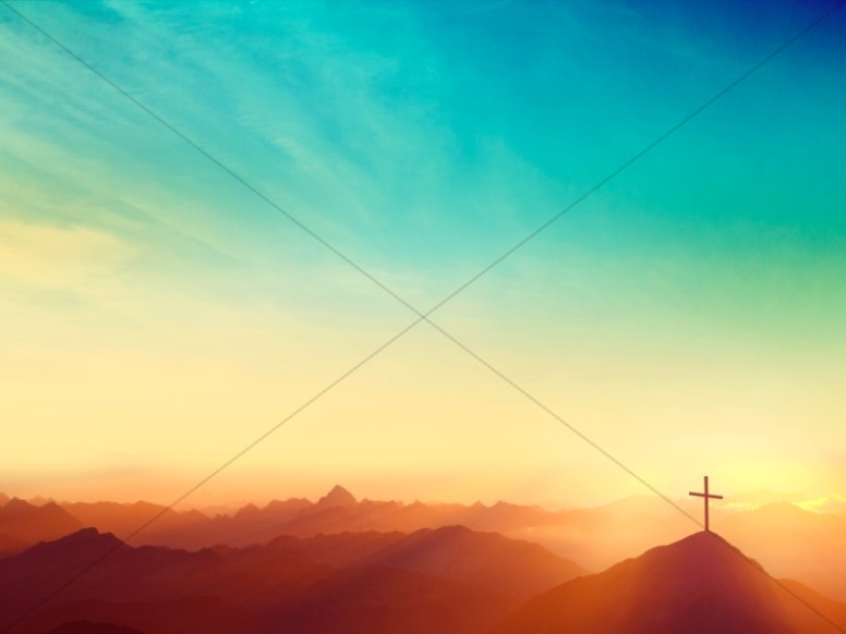 Risen Easter Sunday Church Worship Background
