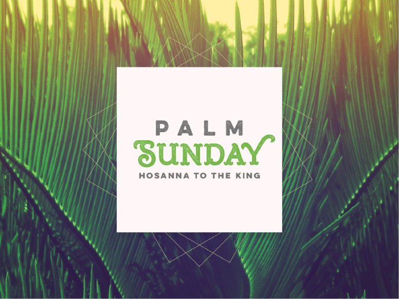 Palm Sunday Hosanna to the King Church PowerPoint