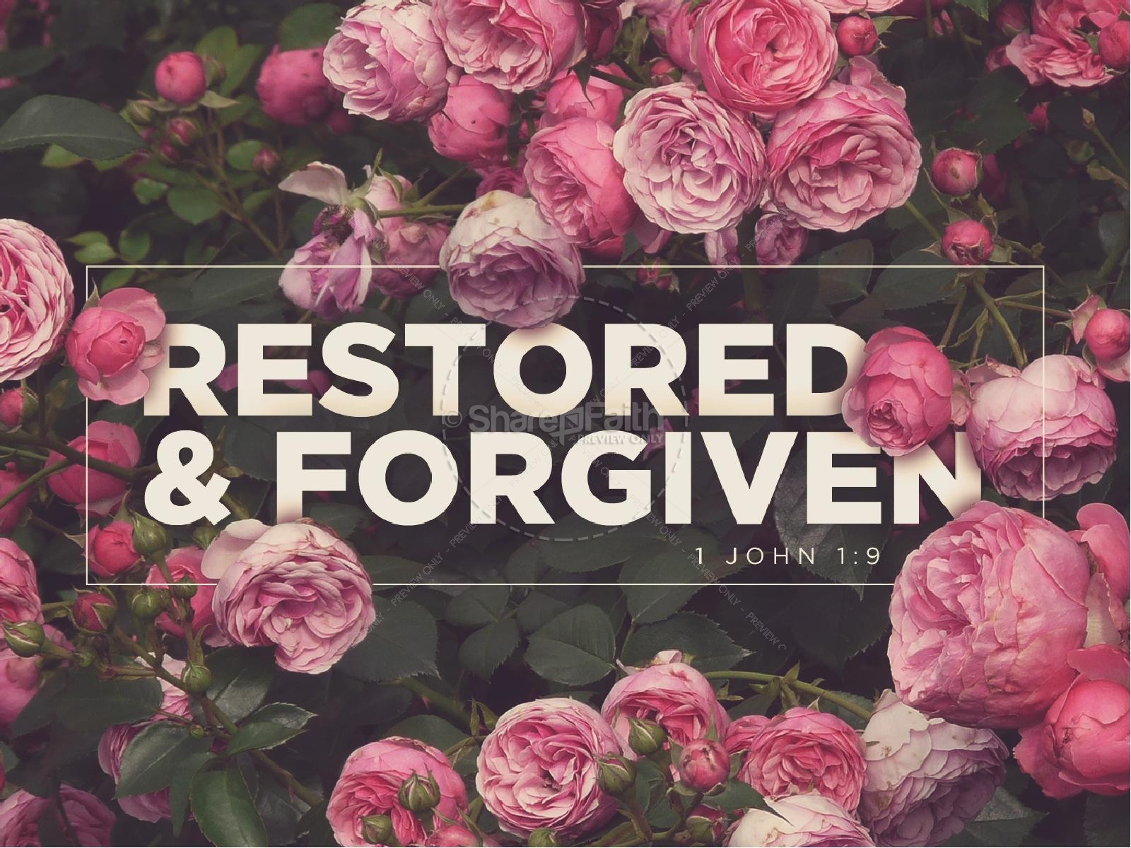 Restored and Forgiven Roses Church PowerPoint