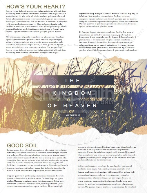 Kingdom of Heaven Wheat Church Newsletter