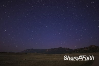 Floating Stars Mountain Worship Video Background