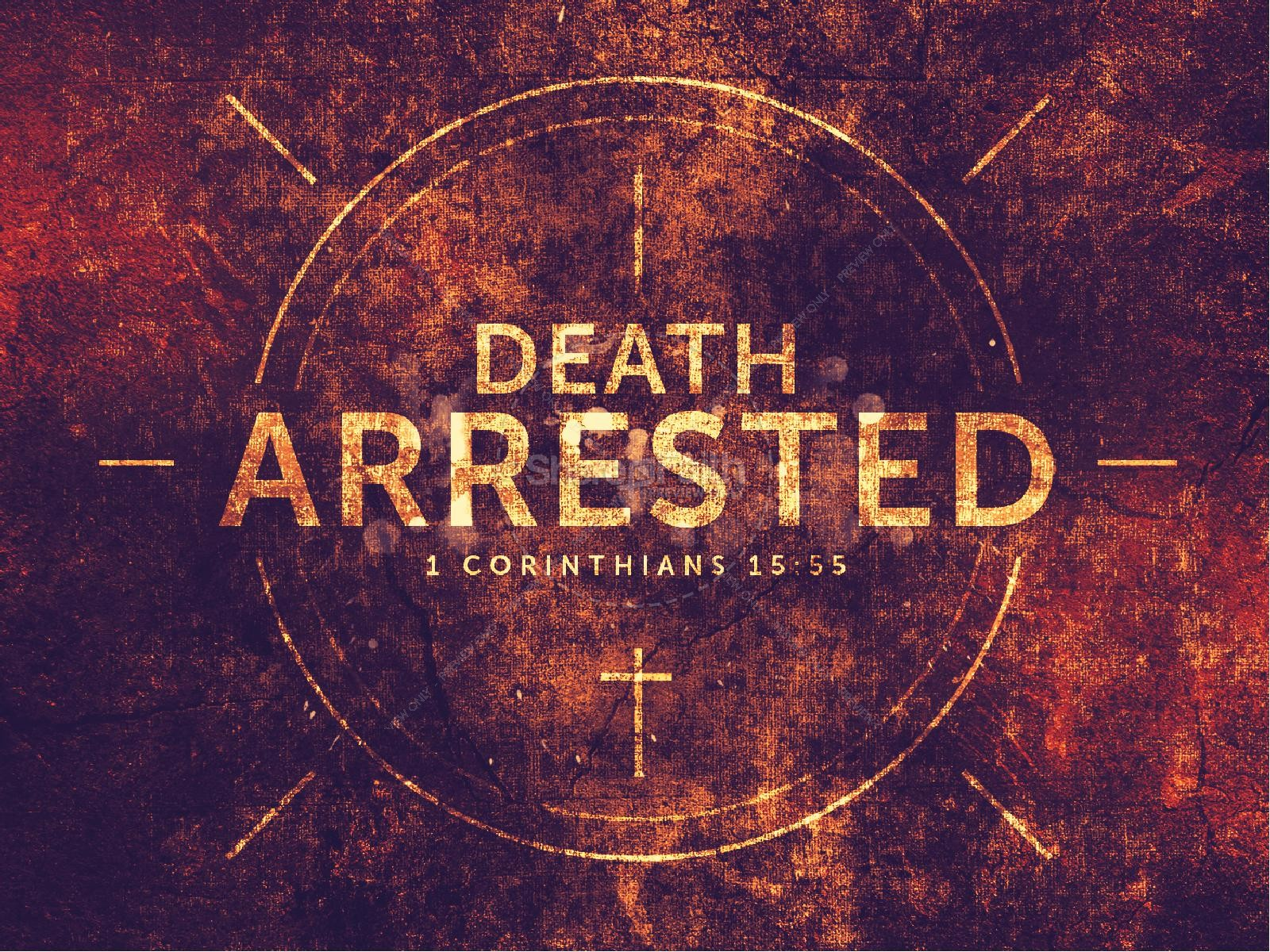 Death Arrested Church Sermon PowerPoint | slide 1
