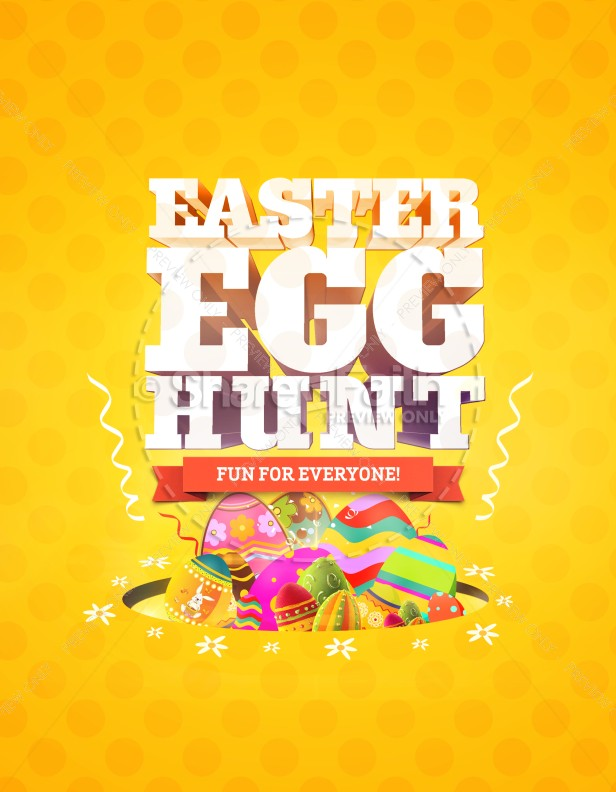 Easter Egg Hunt Church Flyer Template | Flyer Templates
