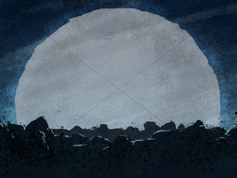 Good Friday Moon Worship Background