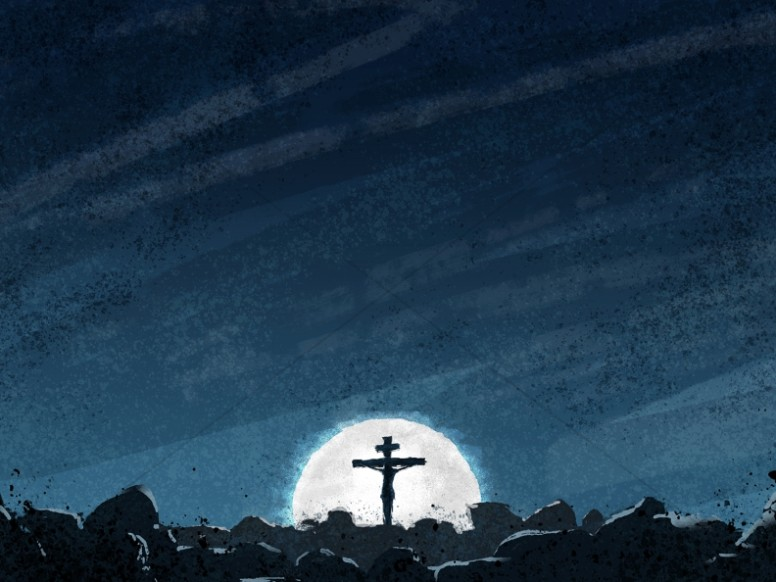Good Friday Crucifixion Church Worship Background