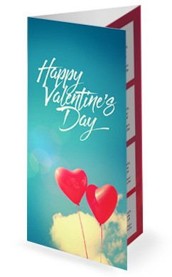 Celebrate Love Valentine's Day Trifold Bulletin
