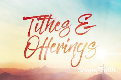 Risen Easter Sunday Tithes and Offerings Video