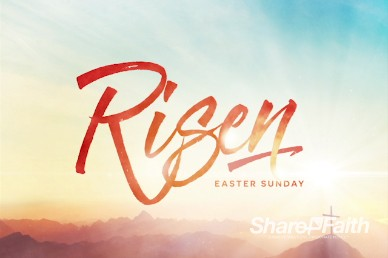 Risen Easter Sunday Sermon Title Video