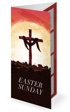 Easter Sunday Resurrection Church Trifold Bulletin