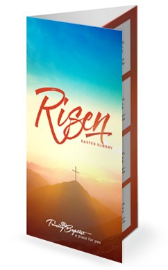 Risen Easter Sunday Church Trifold Bulletin