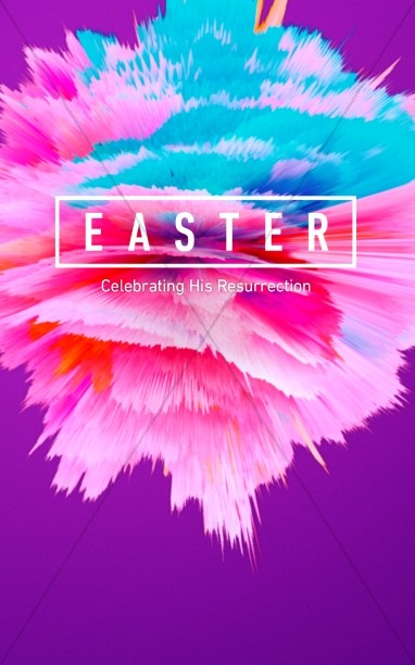 Easter Abstract Christian Bulletin