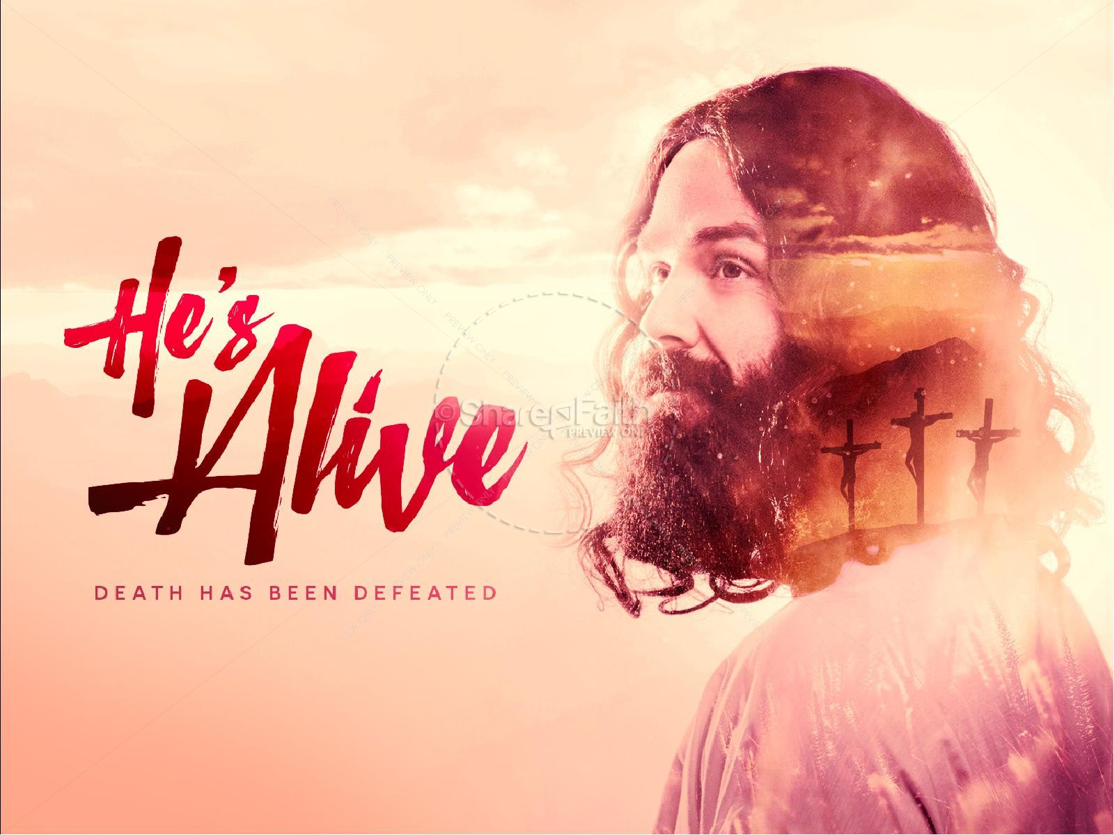 He's Alive Easter Church PowerPoint